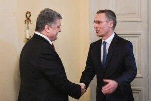 Генсек НАТО відзначив реформи Порошенка для членства України в Альянсі