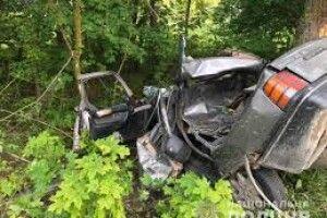 На Волині водій в'їхав у дерево і загинув