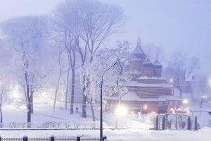 Показали, як на Волині засипало снігом княже місто (Фото)