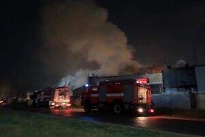 Поблизу «Волинь-Цементу» сталася велика пожежа