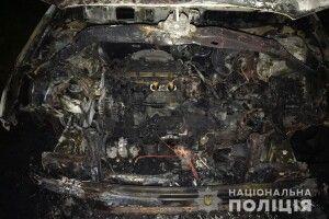 На Рівненщині серед ночі спалили легковик (Фото)