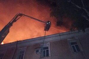 Пожежу у військовому госпіталі Луцька ліквідовували рятувальники з трьох міст (фото)
