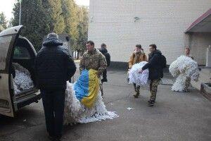 Волинські школярі передали військовим маскувальні сітки