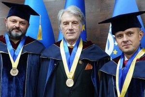 Відомий хірург з Волині та Президент Віктор Ющенко стали почесними професорами Міжнародного європейського університету (Фото)