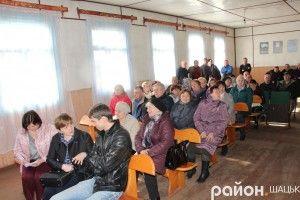 У Згоранах на зборах люди проголосували за приєднання до Шацької ОТГ