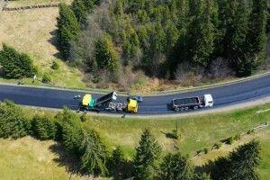 На Прикарпатті завершують реконструкцію дороги до Говерли (Фото)