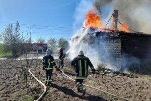 На Горохівщині необережного поводження з вогнем сталася пожежа