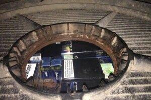 В радіаторі мікроавтобуса прикордонники виявили контрабандні сигарети (Фото)