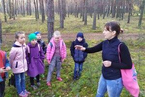Школярі із села Прохід гайнули до осіннього лісу (фото)