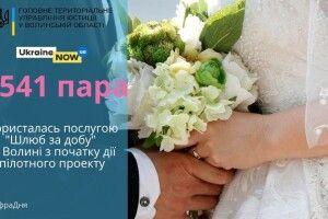 На Волині «за добу» одружилися 1541 пара наречених