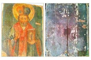 І на кришці стола проявився…образ Святого Миколая