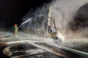 У Польщі згорів двоповерховий пасажирський автобус «Київ - Прага»