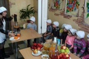 Малеча на практиці вивчала правила здорового харчування