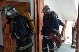У старовижівській школі-гімназії «гасили» умовну пожежу