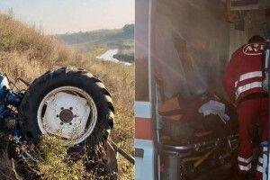На Рівненщині травмований водій всю ніч пролежав у перекинутому тракторі