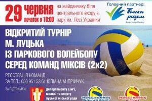 У Луцьку відбудуться змагання з паркового волейболу