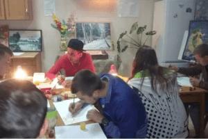 Для дітей-сиріт провели заняття з арт-терапії