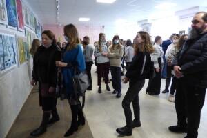 У Луцькій художній школі показали, що витворили юні митці до 150 ліття Лесі Українки (Фото, відео)