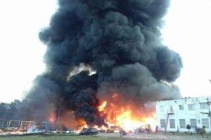 На Львівщині трапилася масштабна пожежа