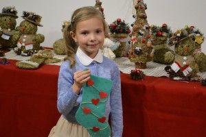 Луцькі школярі озброїлися різдвяними шкарпетками (фото)