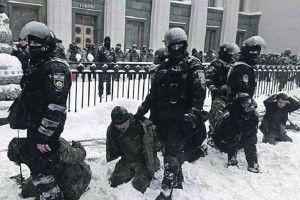Аваков насміхається  із протестувальників,  яких поставили на коліна
