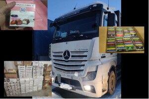 На «Ягодині» німець під виглядом гуманітарки віз продукти на 275 тисяч гривень