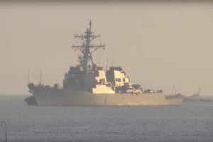 Американський ракетний есмінець «Дональд Кук» прибув в Одесу (Відео)