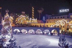 Петро іМарина Порошенки відкрили новорічну ялинку взимовому містечку ROSHEN (Відео)