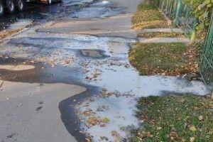 Лучанку, яка зливала нечистоти на вулицю, змусили прибрати тротуар