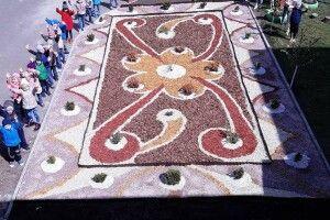 Килими із природних матеріалів прикрасили майданчики луцького дитсадочка