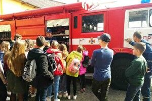 Учнів Каменя-Каширського вчили рятувальники
