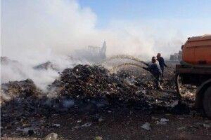 У Дубні загорілося міське сміттєзвалище