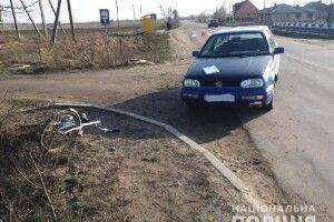 На Рівненщині нетверезий велосипедист потрапив під колеса легковика