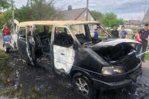 На Волині згорів автомобіль (Фото)