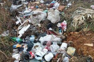 Житель Ківерців у полі викинув купу непотребу