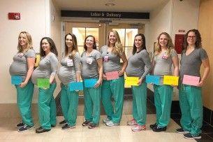Одночасно завагітніли дев'ять медсестер пологового відділення (фото)