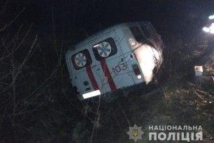 У Ковельському районі «швидка» везла в лікарню бабусю і потрапила у ДТП