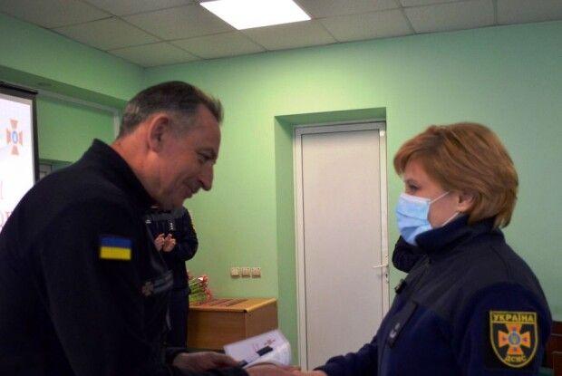 Волинська рятувальниця отримала звання підполковника (Відео)
