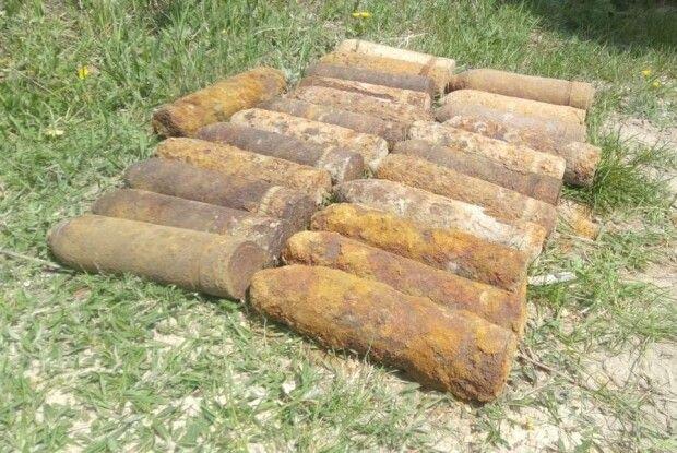 На Волині знайшли 27 снарядів та 2 міни
