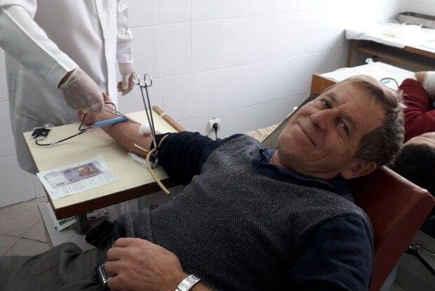 Ківерчанин Юрій Бузан здав 4 відра крові