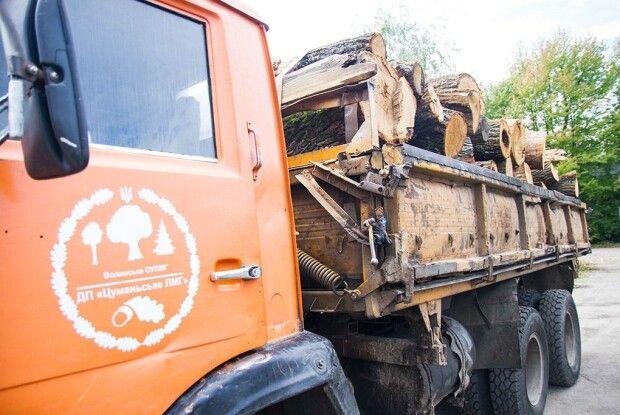Цуманські лісівники підкинули дровенят для луцьких Сірків, Тузиків та Барбосів (фото)