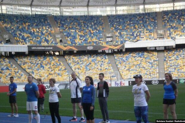 Тренувались ветерани АТО разом із спортсменами-олімпійцями
