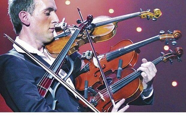 Так ніхто незаграв: віртуоз Олександр Божик опанував 4скрипки одночасно
