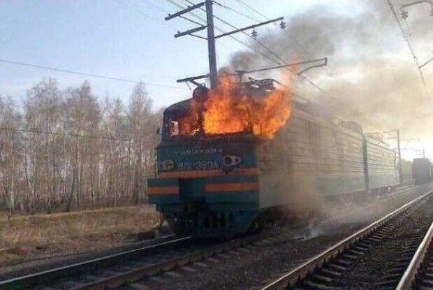 У Маневицькому районі палав пасажирський потяг