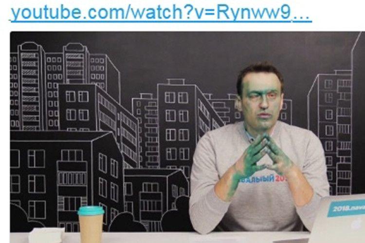 У Росії не всі здаються Путіну: зелений Навальний вийшов у ефір з одним оком