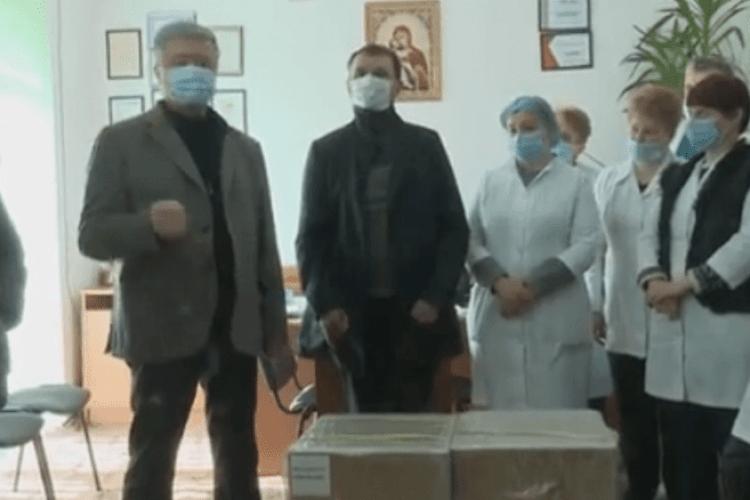 Порошенко на прохання медиків привіз у лікарню Яремчі кисневі концентратори