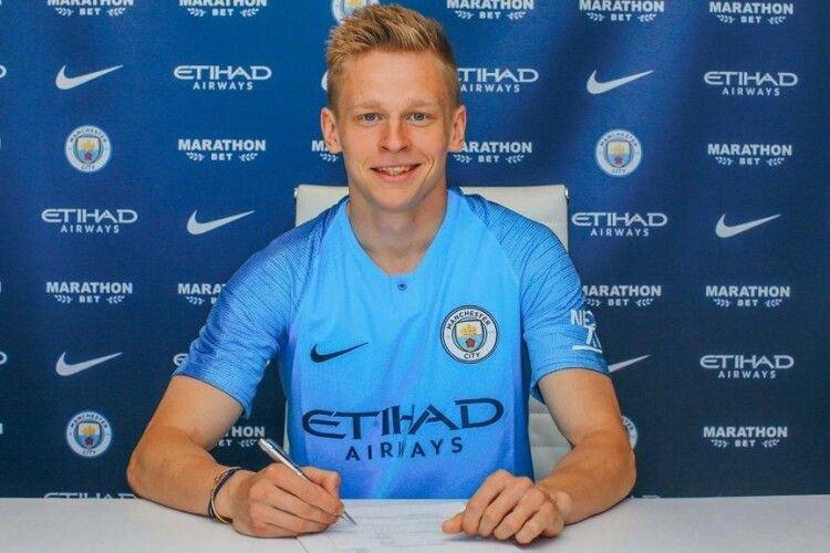 Англійський «Манчестер Сіті» продовжив на п'ять років контракт з українцем Олександром Зінченком