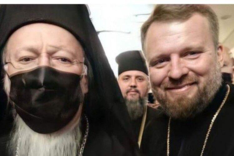 Священник з Нововолинська Віктор Мартиненко удостоївся прийняти з рук Вселенського Патріарха Святу Чашу