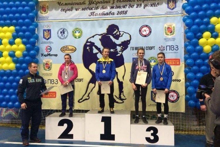 Волиняни – бронзові призери чемпіонату України з вільної боротьби