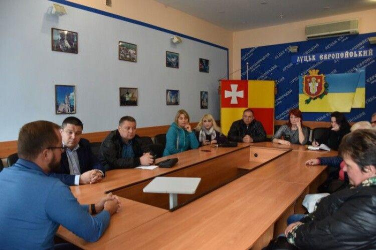 У Луцькій міській раді відбулась зустріч з підприємцями Центрального ринку